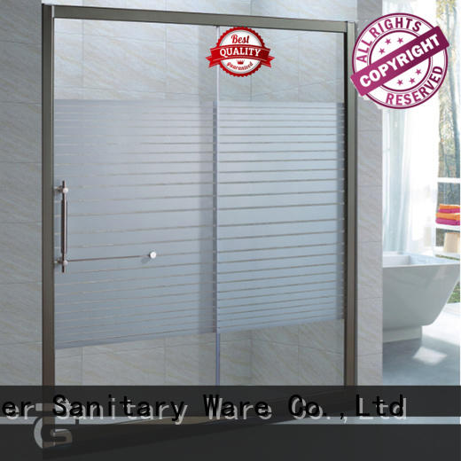 modern bathroom glass door promotion for home