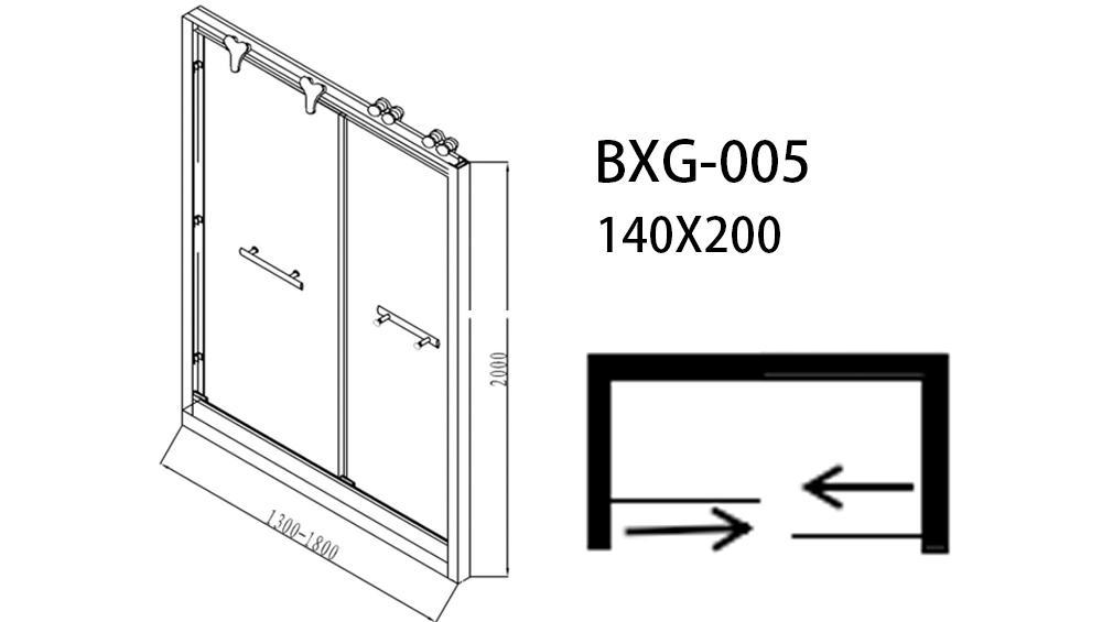 Xavier -Bathroom Glass Door Stainless Steel Sliding Shower Door Hardware Shower