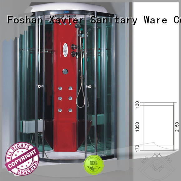 Xavier color steam shower units online for hotel