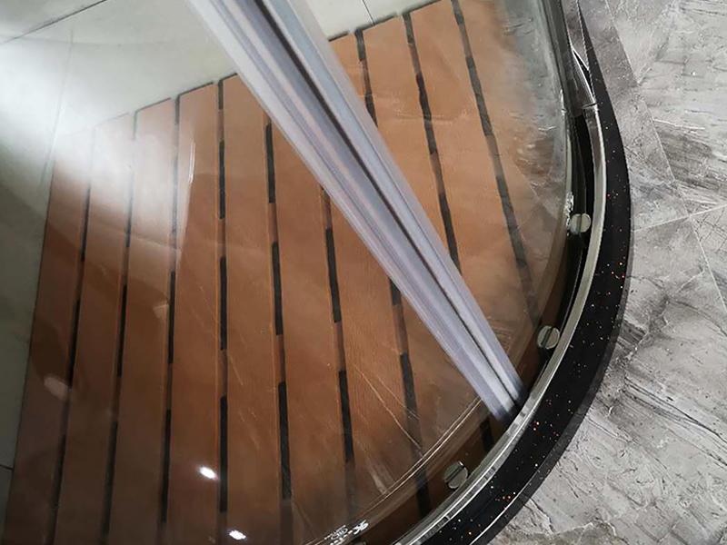 Xavier Brand sliding shower frameless corner shower unit