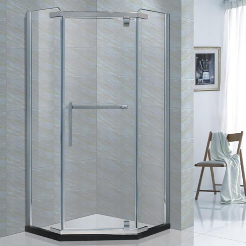 Frameless Glass Shower Enclosure, Shower Stall With Sliding Glass Doors