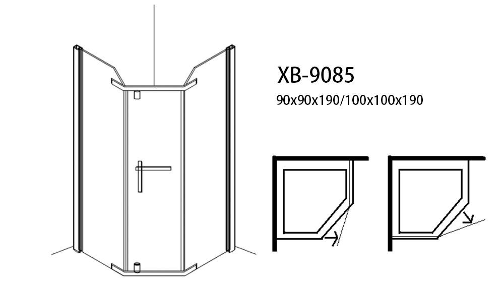 Custom sliding frameless shower units Xavier quality
