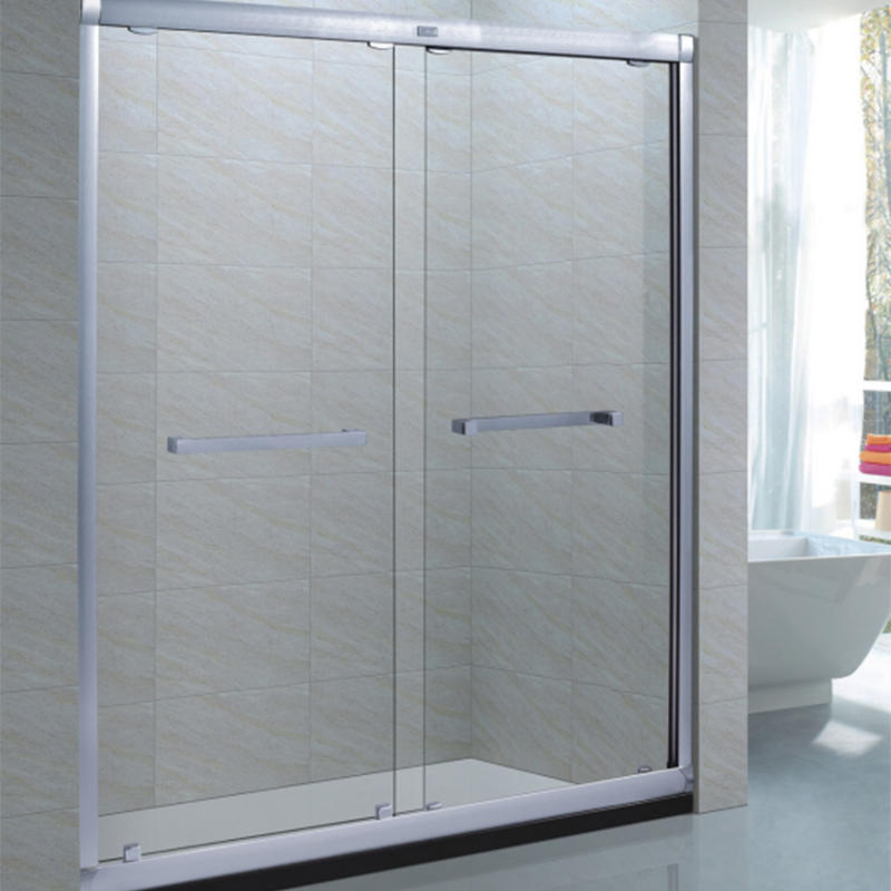 Luxury simple bathroom sliding tempered glass shower door cabin XB-9061