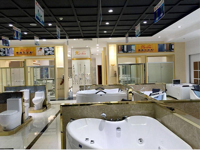 The exhibition hall closestool and massage bathtub