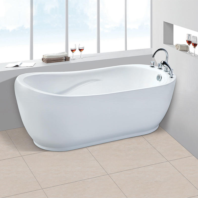 Wholesale promotional products freestanding massage sitting acrylic corner bathtub AC-152