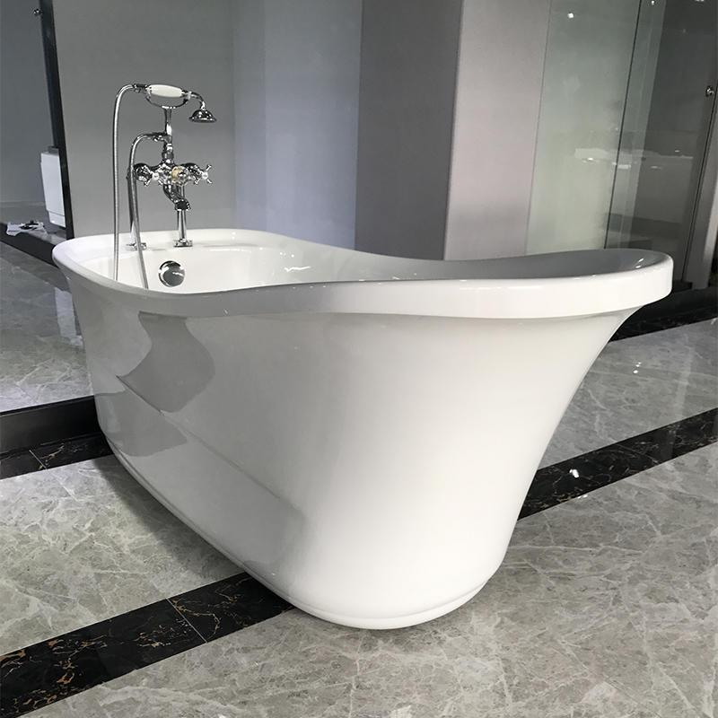 Classic Design Acrylic  Freestanding Solid Surface Soaking Bath Tub AC-159
