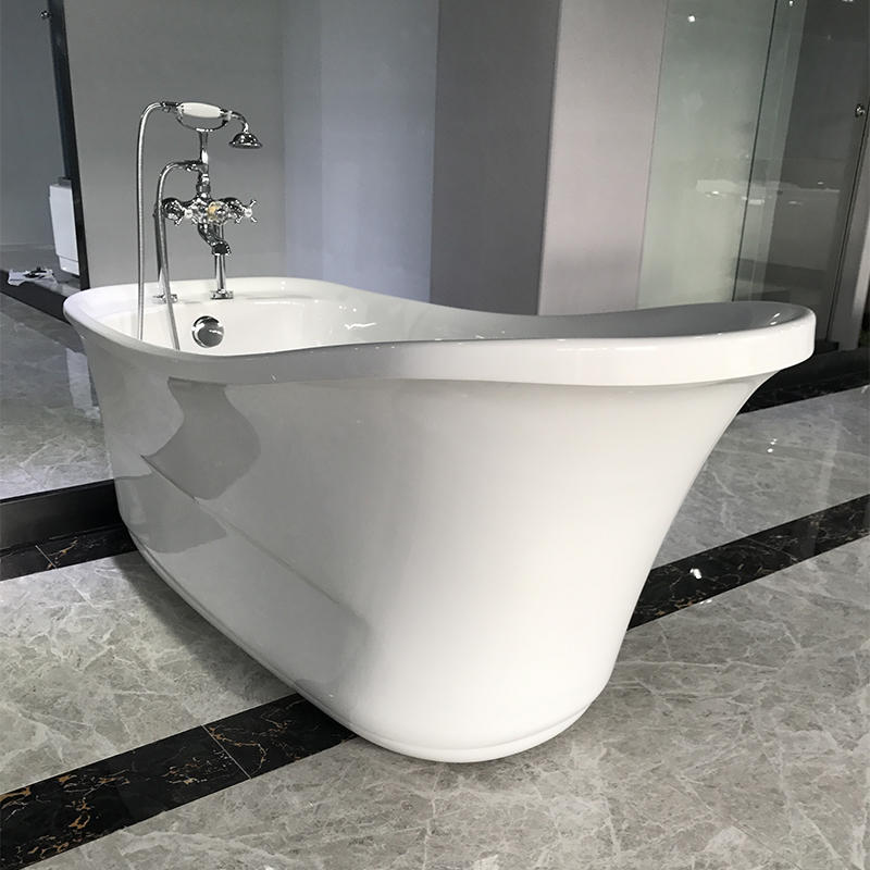 Classic Design Acrylic  Freestanding Solid Surface Soaking Bath Tub AC-159