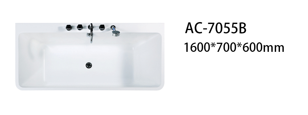 Xavier -Free Standing Baths, Indoor Freestanding Acrylic Standard Size Square Bathtubs