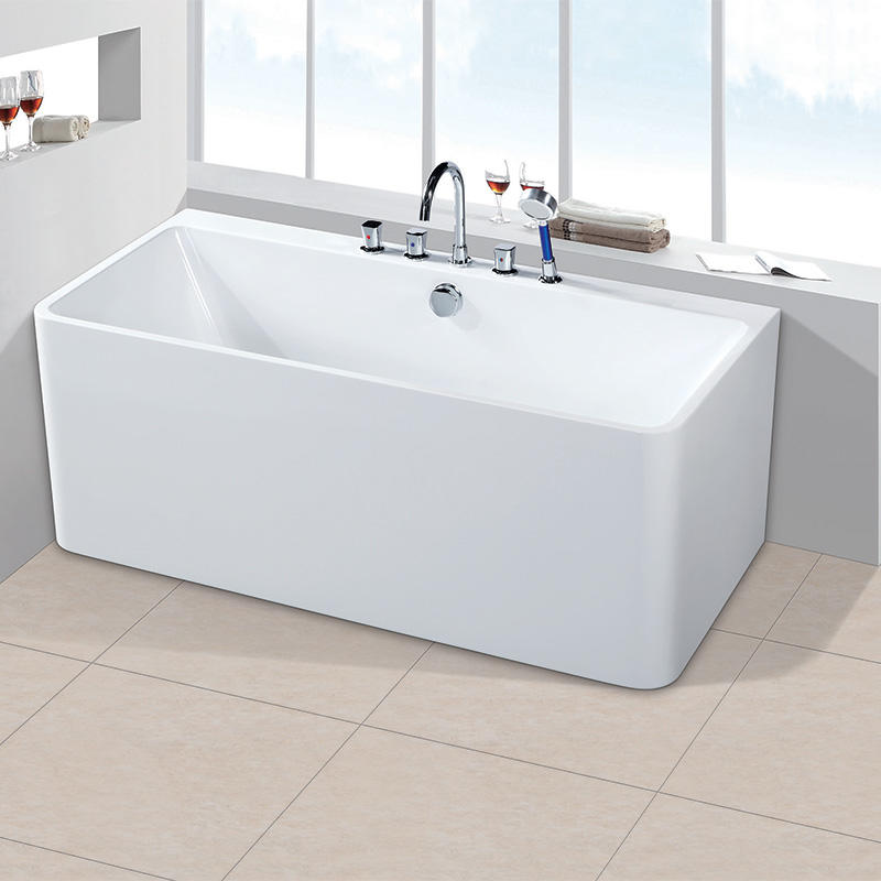 Indoor Freestanding Acrylic Standard Size Square Bathtubs On Sale AC-7055B