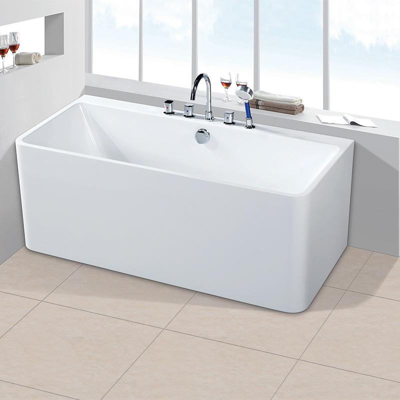 Indoor Freestanding Acrylic Standard Size Square Bathtubs On Sale AC-7055B
