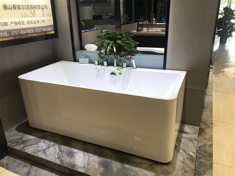 Xavier -Free Standing Baths, Indoor Freestanding Acrylic Standard Size Square Bathtubs-4