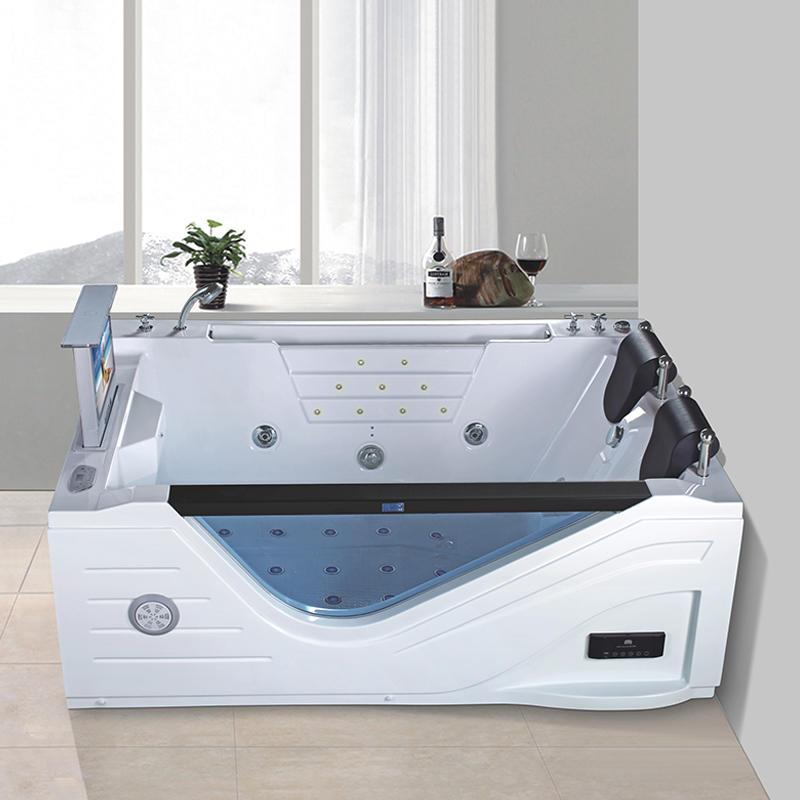 2 person acrylic hydromassage whirlpool bathtub price with jacuzzi X-108