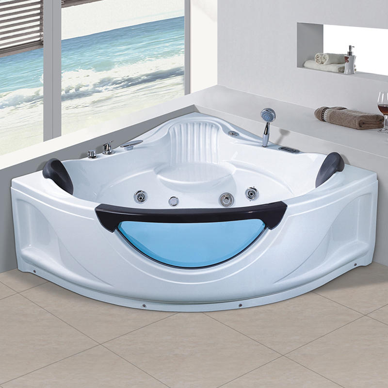 Indoor New Style Corner Acrylic Whirlpool Hot Tub Massage Bathtub X-304