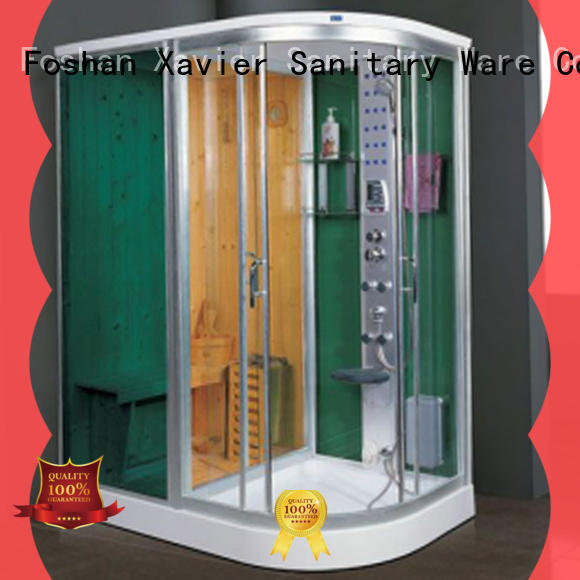 Xavier customized sauna and steam room supplier for outdoor