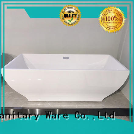 Xavier comfortable freestanding soaking tub with waterfall for apartment