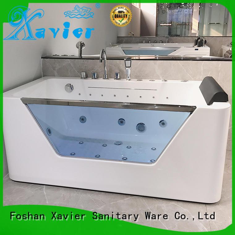 Quality Xavier Brand freestanding tub with shower freestanding
