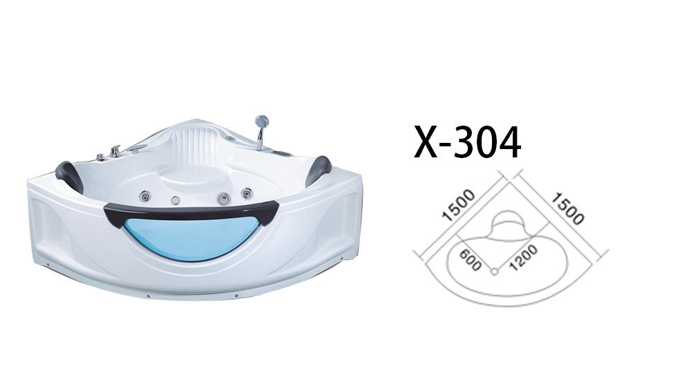 Xavier -Jetted Tub Indoor New Style Corner Acrylic Whirlpool Hot Tub Massage