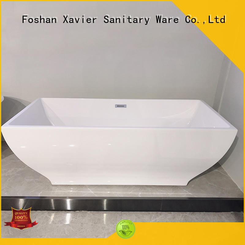 Xavier modern freestanding tub with waterfall for hotel