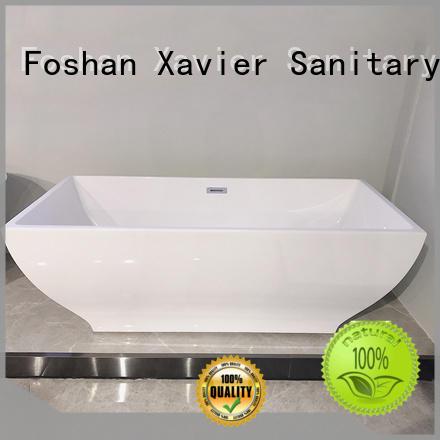 bathtub freestanding tub with shower acrylic wholesale Xavier Brand
