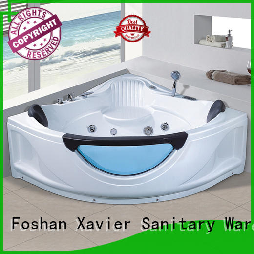 Xavier hydromassage bathroom jacuzzi tub with berth for family