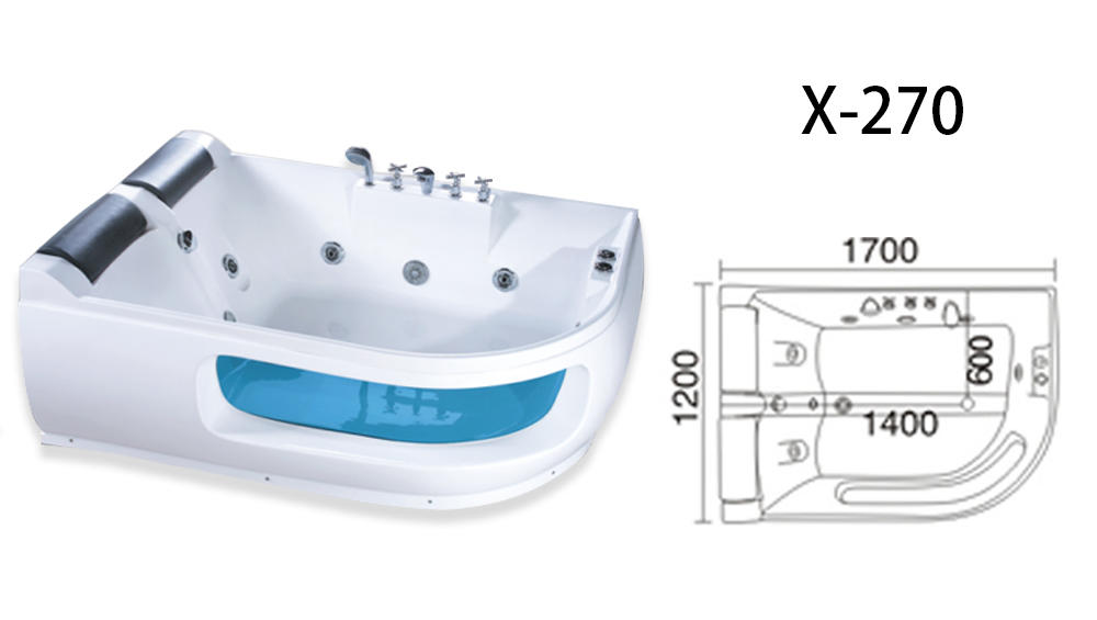 Xavier -Whirlpool Jacuzzi Tub | Factory Wholesale Whirlpool Pearl Hydromassage