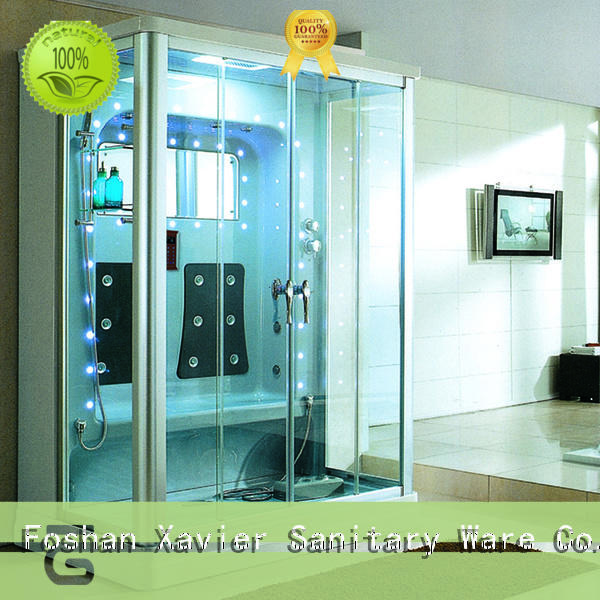 Xavier beautiful steam shower cubicle factory price for homestay