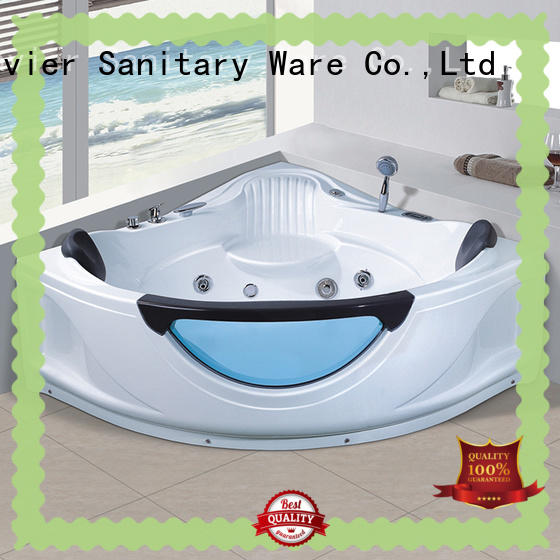 Xavier villa corner whirlpool tub supplier for bathroom