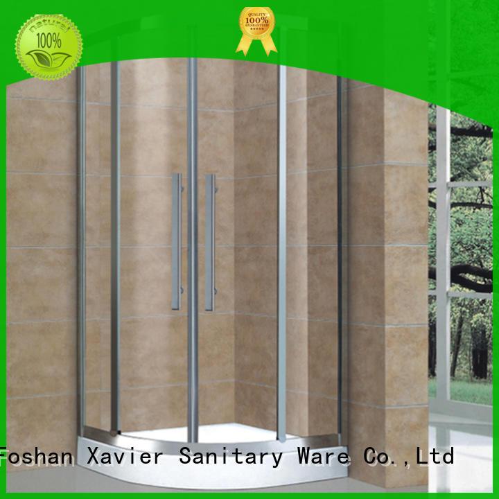 Hot corner shower unit frameless Xavier Brand