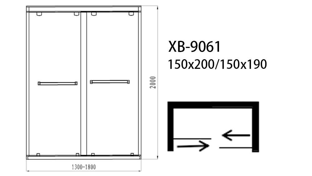 Xavier -High-quality Bath Screen | Luxury Simple Bathroom Sliding Tempered Glass
