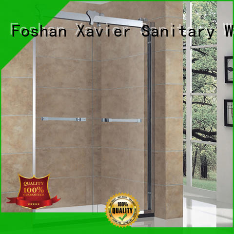 Xavier style wet room shower screen directly price for hotel