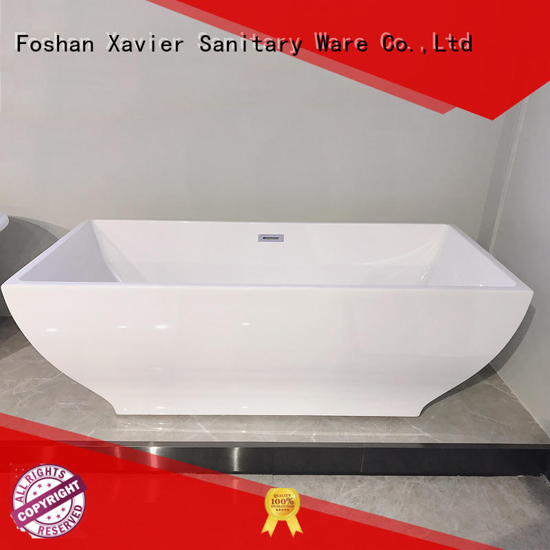 Xavier free standing baths with waterfall for hotel