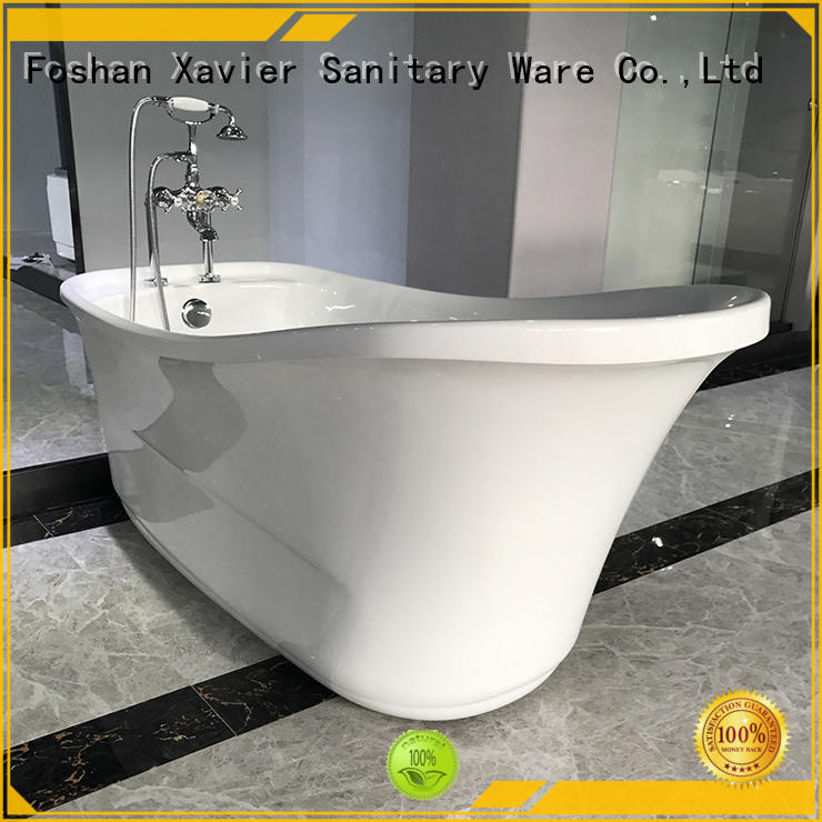 Xavier sexy modern freestanding tub with waterfall for homestay