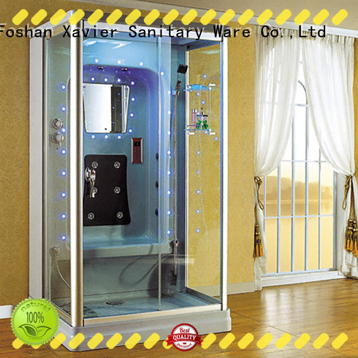 Xavier good quality steam shower jacuzzi whirlpool tub combo coated for hotel