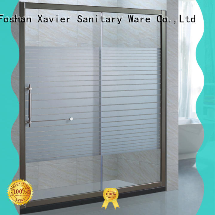 Xavier fixed glass shower screen directly price for household