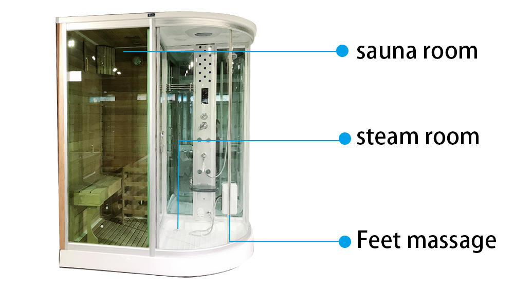 Xavier -Home Infrared Sauna Steam Room With Sauna House Gs1117-rl