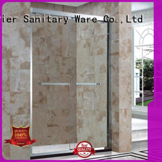 Xavier durable bathroom glass door design for home