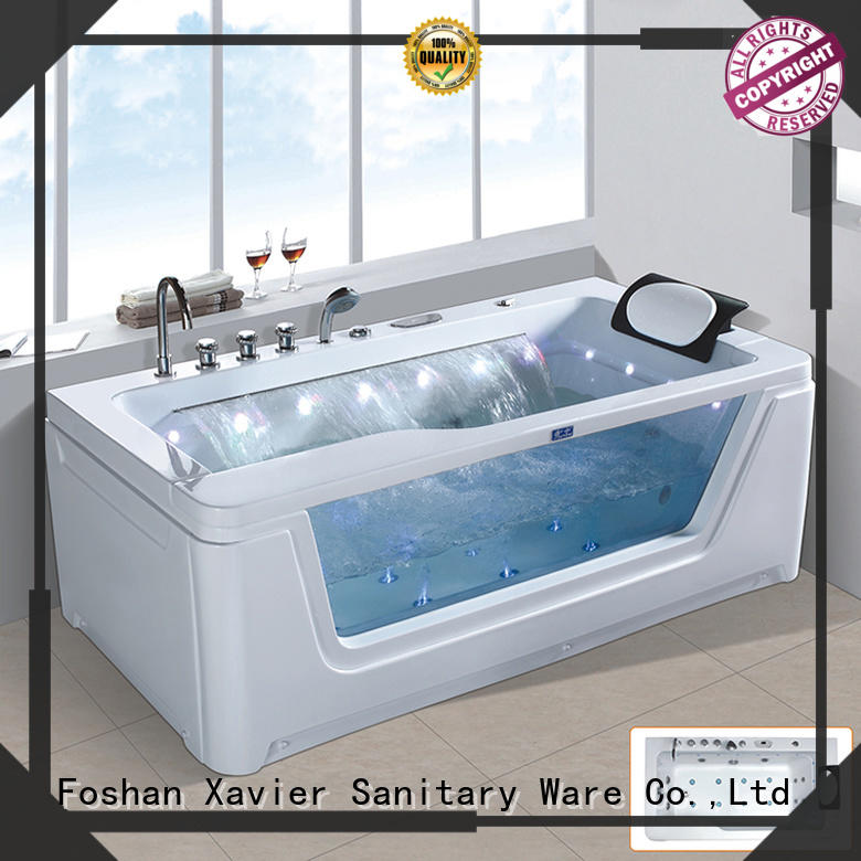 Xavier x8097b jet bathtub with berth for resort hotel