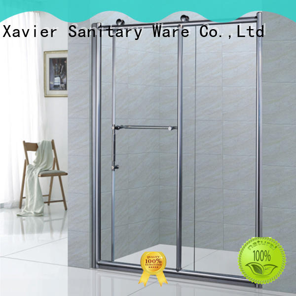 Xavier customized wet room shower screen promotion for hotel