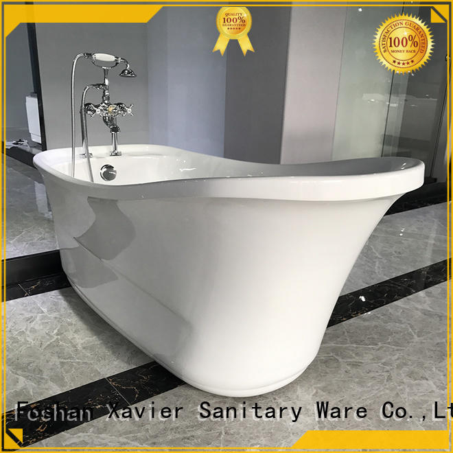 Xavier acrylic freestanding bathtub promotion for apartment