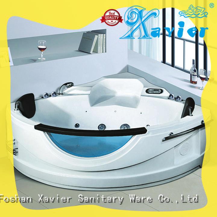 Xavier durable corner whirlpool tub supplier for villa