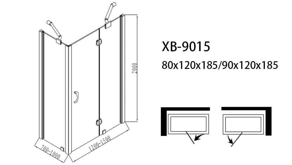 Xavier -Walk In Shower Enclosures | Rectangle Frameless Hinge Shower Screenenclosureroom