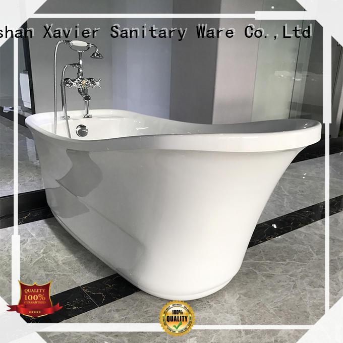 bathroom acrylic bathtub OEM freestanding bathtub Xavier