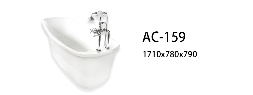 Xavier -Modern Freestanding Tub | Acrylic Freestanding Soaking Bath | Xavier