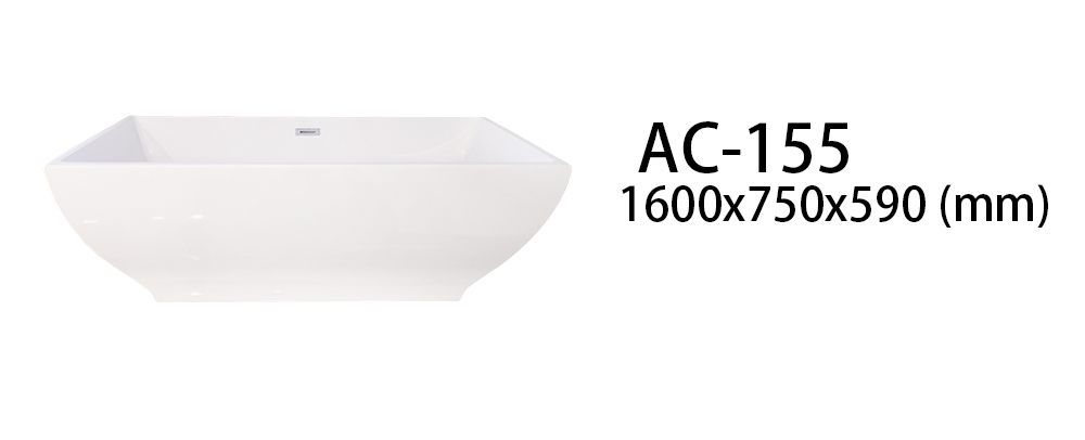 Xavier -Freestanding Soaking Tub | Square Freestanding Acrylic Bathtubs