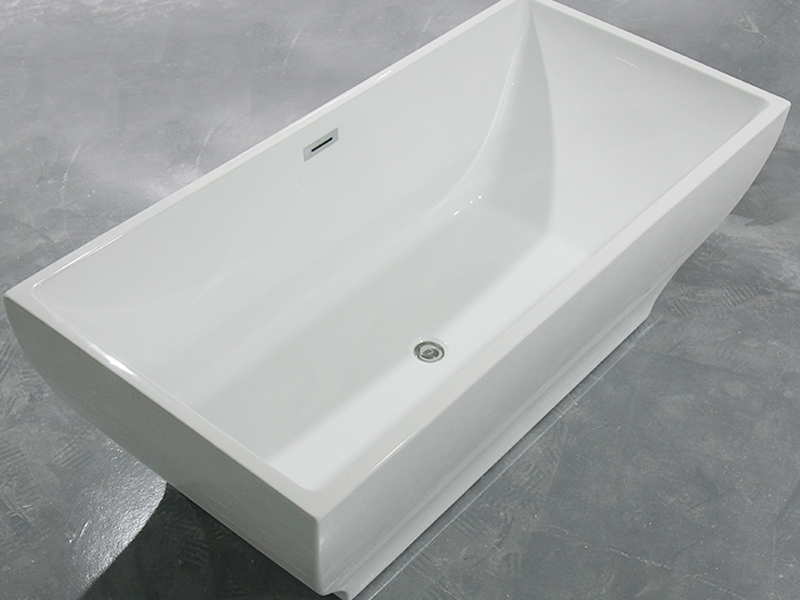 Xavier -Freestanding Soaking Tub | Square Freestanding Acrylic Bathtubs-1