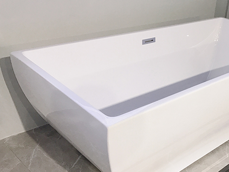 Xavier -Freestanding Soaking Tub | Square Freestanding Acrylic Bathtubs-2