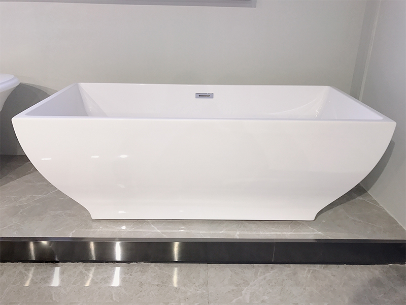 Xavier -Freestanding Soaking Tub | Square Freestanding Acrylic Bathtubs-3
