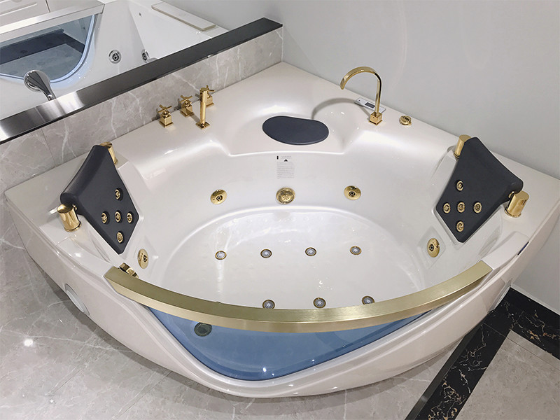 Xavier -Massage Bathtub | Acrylic Corner Whirlpool Hydromassage Bathtub-5