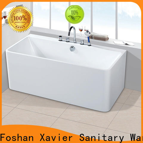 Xavier save space free standing bath tubs with waterfall for apartment