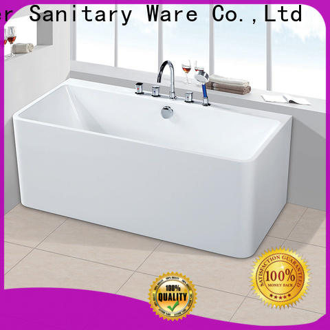 Xavier save space modern freestanding bath with waterfall for apartment